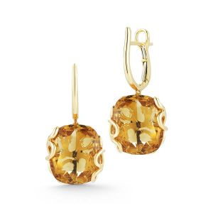 Citrine Foglia di Mare Earrings