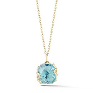 Blue Topaz Foglia di Mare Necklace