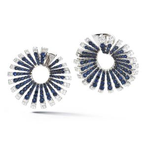 Blue Sapphire Ventaglio Earrings