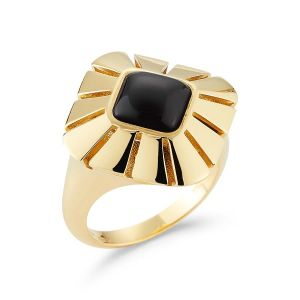 Black Onyx Vesuvio Ring