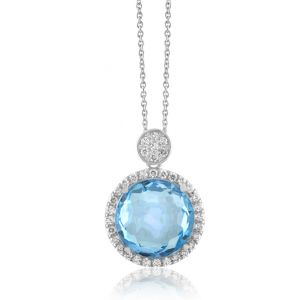Sky Blue Topaz Necklace