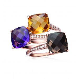 Cushion Cut Ring Set