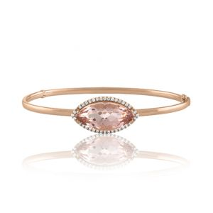 Morganite Bangle