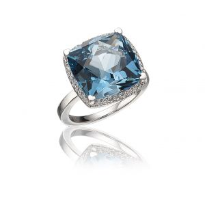 London Blue Topaz Cocktail Ring