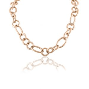 Oval and Round Link Necklace