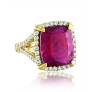 Rubellite Cocktail Ring