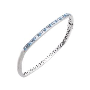 Topaz Square Bangle