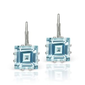 Topaz & Diamond Earrings