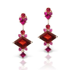 Garnet & Tourmaline Earrings