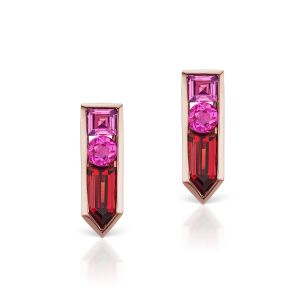 Tourmaline & Garnet Earrings