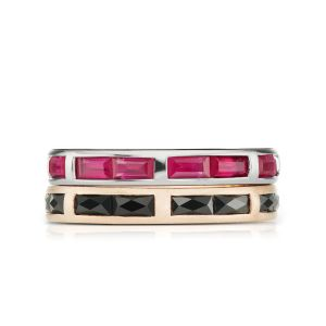 Ruby & Spinel Ring Stack