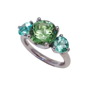 Peridot & Tourmaline Ring