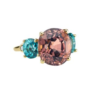 Tourmaline & Zircon Ring