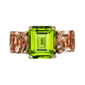 Peridot & Quartz Ring