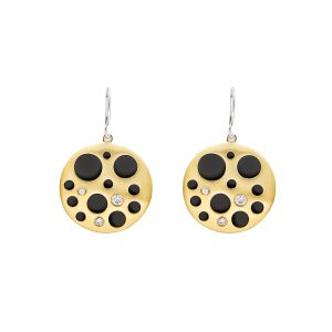 Hollow Coin Earrings