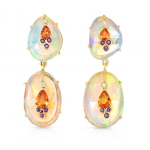 Opal Double Drop Earrings