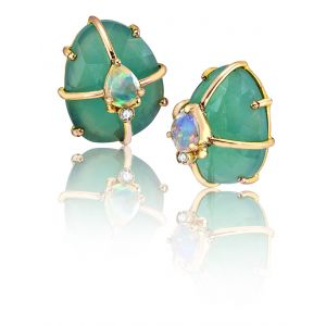 Chrysoprase Cage Earrings