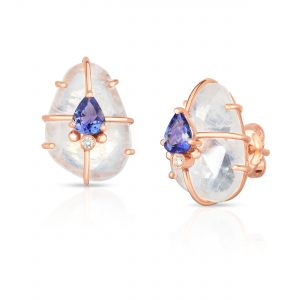 Moonstone Cage Earrings