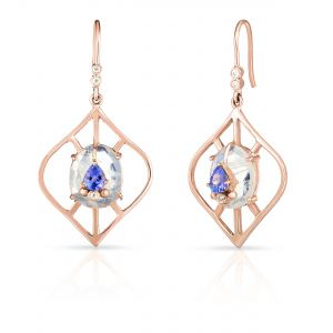 Lantern Shape Moonstone Earrings