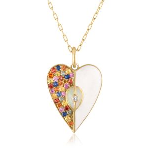 Multi-Colored Heart Pendant