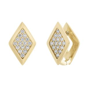 Lucia Geometric Diamond Stud Earrings