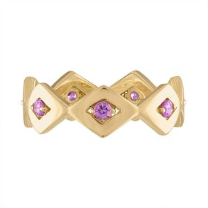 Pink Tourmaline Lucia Eternity Band
