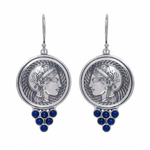 Athena Icon Lapis Earrings