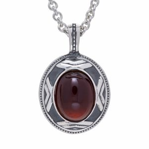 Chevron Pendant with Almandine Garnet