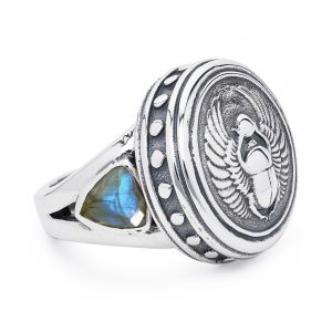 Scarab Icon Signet Ring
