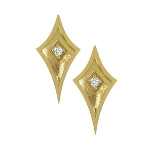 Gold Studs with Diamonds