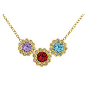 Flower Birthstone Necklace