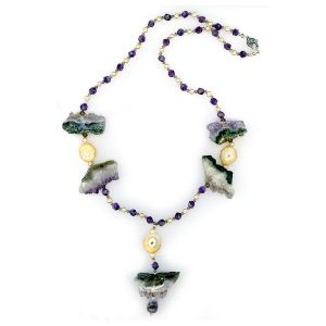 Gemstone and Crystal Necklace