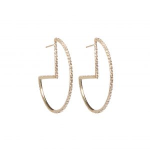Found Geometric Hoop Earrings