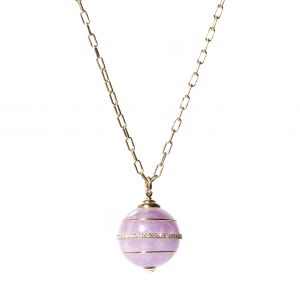 Amethyst Found Sphere Pendant Necklace