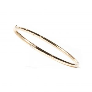 Diamond Crew Bangle Bracelet