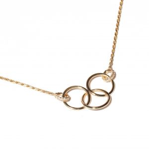 Diamond Crew Triple Circle Necklace