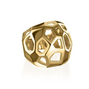 Facette Gold Cage Ring