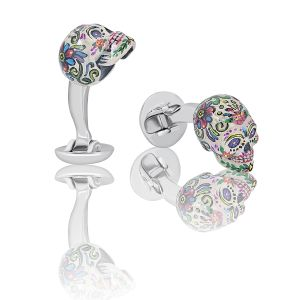 Colorful Skull Cufflinks