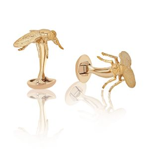 Gold Fly Cufflinks