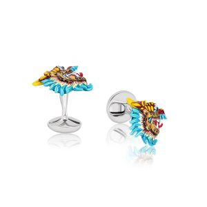 Colorful Dragon Cufflinks