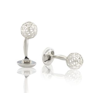 Triangle Cutout Sphere Cufflinks