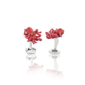 Red Octopus Cufflinks