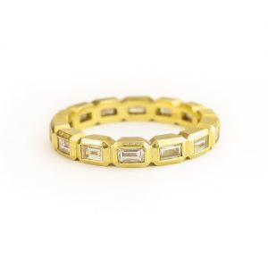 Geo Baguette Eternity Band