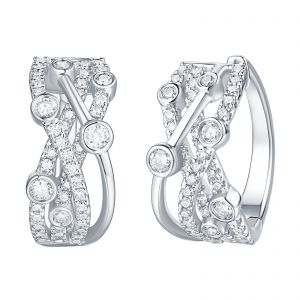 Bubbly Lab Grown Diamond Hoops