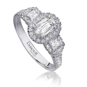 Crisscut® Princess Cut Engagement Ring