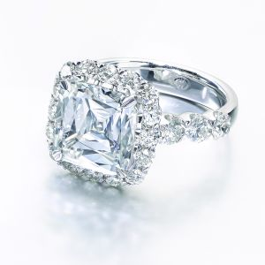 Crisscut® Cushion Cut Engagement Ring