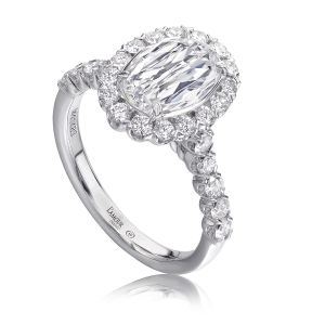 Crisscut® Oval Diamond Engagement Ring
