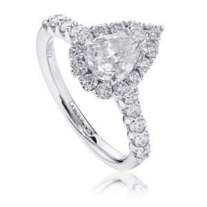 Crisscut® Pear Diamond Engagement Ring