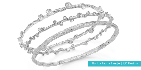silver LJD Designs bangle